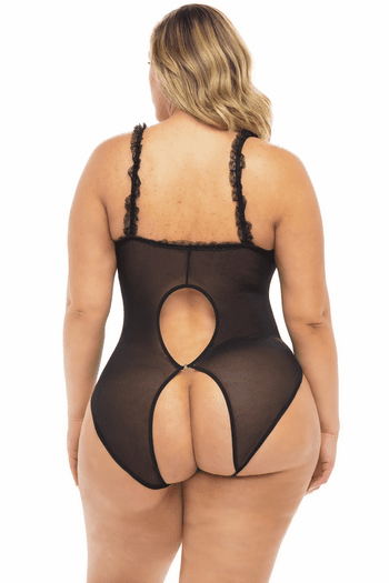 Plus Size Divine Fantasy Cupless & Crotchless Naughty Teddy