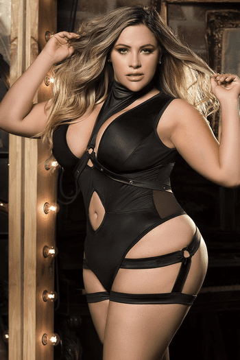 Plus Size Do Me Right Teddy & Harness Set