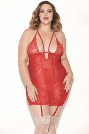 Plus Size Don't Be Fooled Chemise & G-String Set