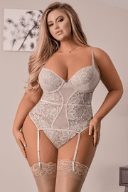 Plus Size Dream Come True Lace Bustier & Panty Set