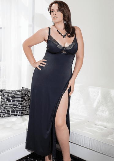 Plus Size Expecting You Tonight Sexy Long Gown