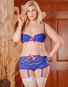 Plus Size Exposed Luv Lace Sexy 2 PC Bra Set