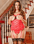 Plus Size Exposed Luv Lace Sexy Erotic Teddy