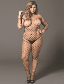 Plus Size Fence Net Bodystocking