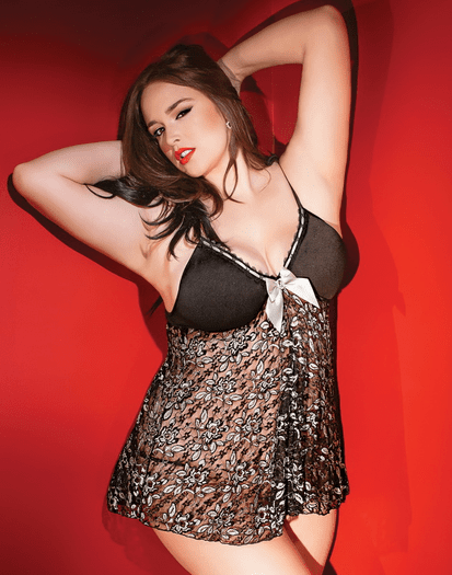 Plus Size Fill Me Up Tonight Babydoll