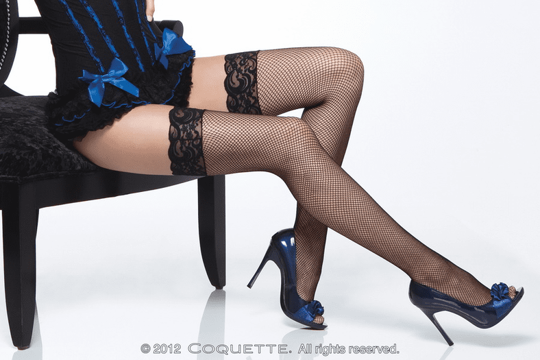 Plus Size Fishnet Thigh High