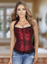 Plus Size Follow Me To The Moon Red Corset