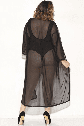 Plus Size For The Love Mesh Robe