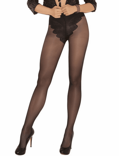 Plus Size French Cut Support Pantyhose