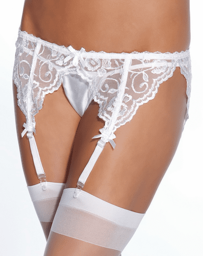 Plus Size French Lace Garter Belt