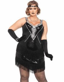 Plus Size Glamour Flapper Sexy Costume
