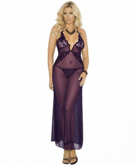 Plus Size Gorgeous Mistress Sheer Gown