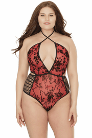 Plus Size Halter Top Teddy
