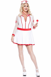 Plus Size Heart Attack Nurse Costume
