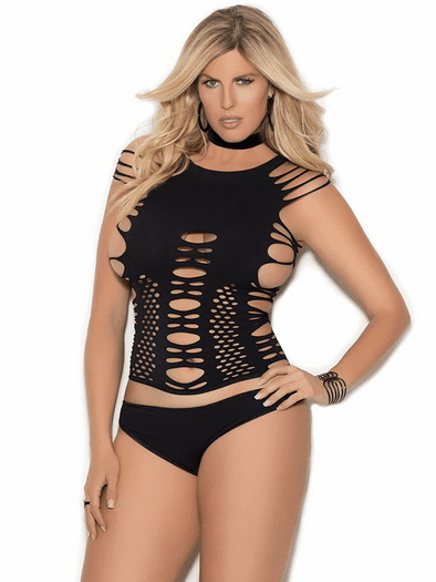 Plus Size Heartless Love Cami & Thong Set