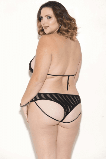 Plus Size High For This Cut Out Teddy