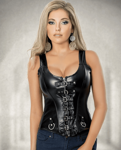 Plus Size Hot As Can Be Leather Corset