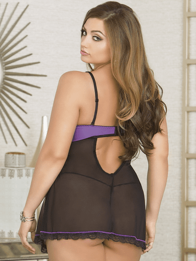 Plus Size I'm All Yours Sexy Babydoll & Thong Set