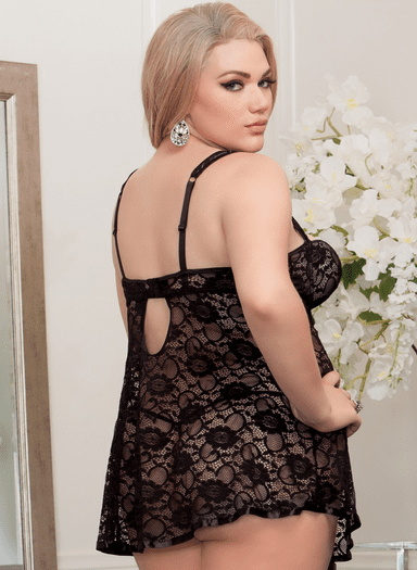 Plus Size Innocent Sin Sexy Lace Babydoll