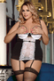 Plus Size It's Your Love Lace Bra, Skirt, & G-String Set