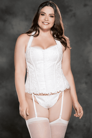 Plus Size Ivory Gorgeous Tapestry Corset