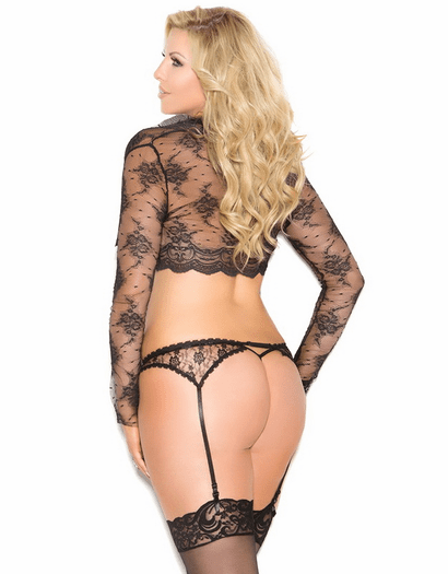 Plus Size Lace Garterbelt