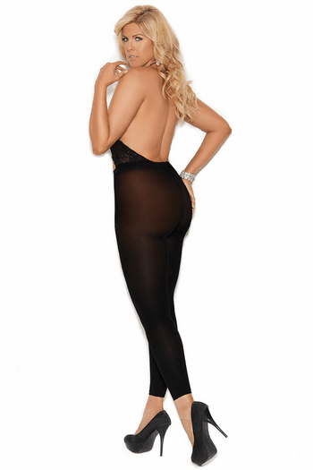 Plus Size Lace Haltered Bodystocking