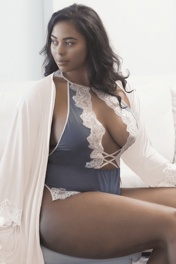 Plus Size Lace Trimmed Robe