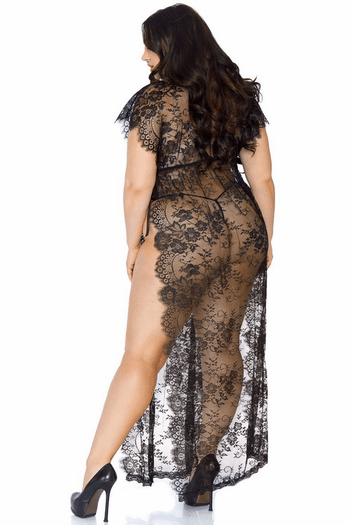 Plus Size Long Kaftan Robe