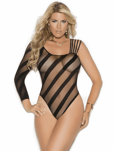 Plus Size Love Making Sheer Teddy