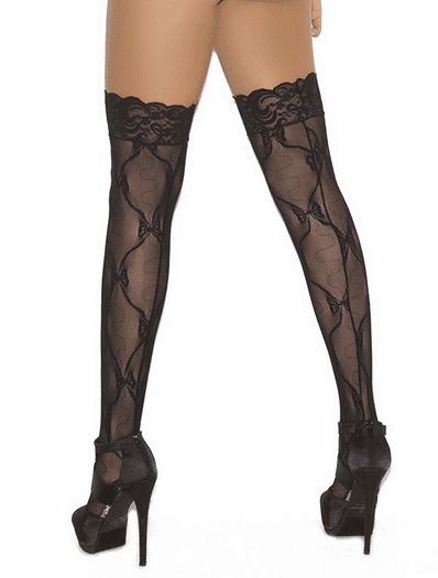 Plus Size Lovely Lace Thigh High