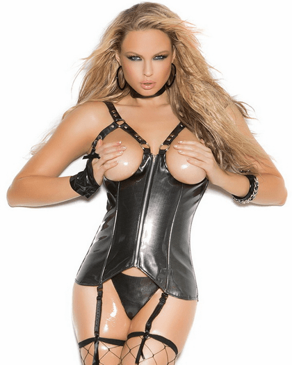 Plus Size Misbehave All Night Open Bust Corset