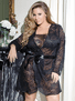 Plus Size Naughty Elegance Sexy Robe