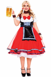Plus Size Oktoberfest Beer Girl Costume