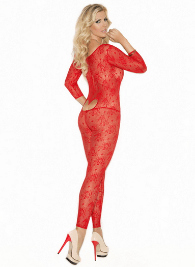 Plus Size Open Heart Bodystocking