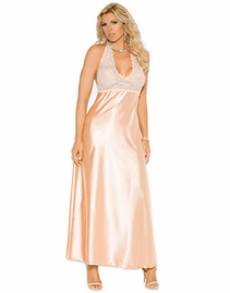 Plus Size Peach Perfection Sexy Long Gown