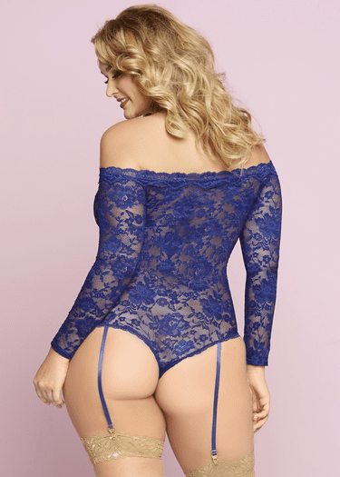 Plus Size Picture Perfect Lace Snap Crotch Teddy