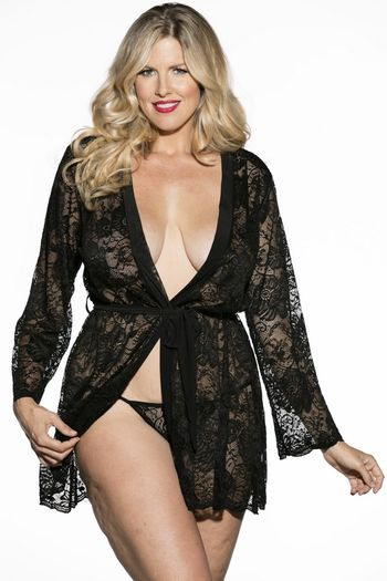 Plus Size Provocative Princess Lace Robe