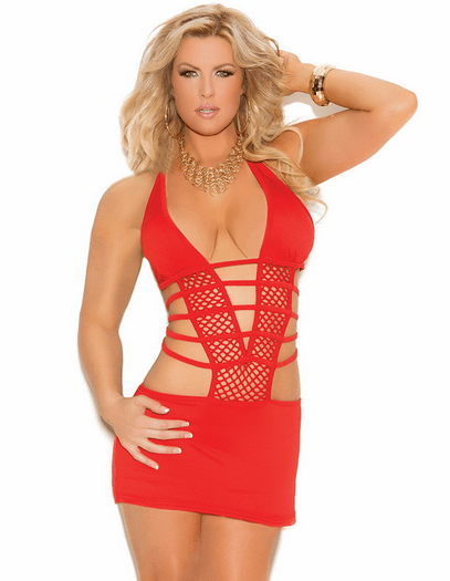 Plus Size Red Hot Passion Sexy Mini Dress