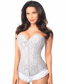 Plus Size Romantic Date Grey Lace Up Corset