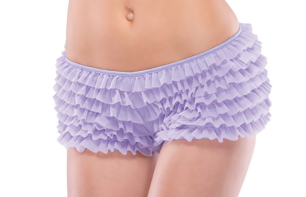 Plus Size Ruffle Shorts With Back Bow Detail