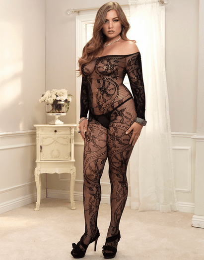 Plus Size Sexual Spiral Bodystocking