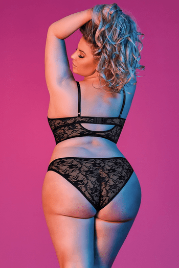 Plus Size Sexy Time Bralette & Panty Set