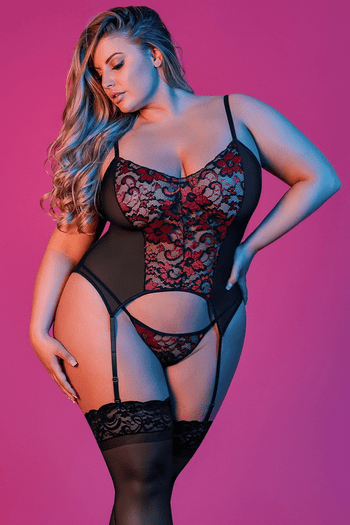 Plus Size Sexy Time Merry Widow & G-String