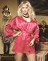 Plus Size Shalimar Charmeuse Robe Set
