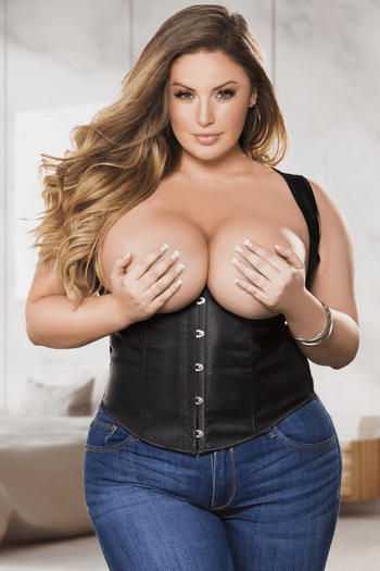 Plus Size She Is The Bomb Sexy Underbust Corset