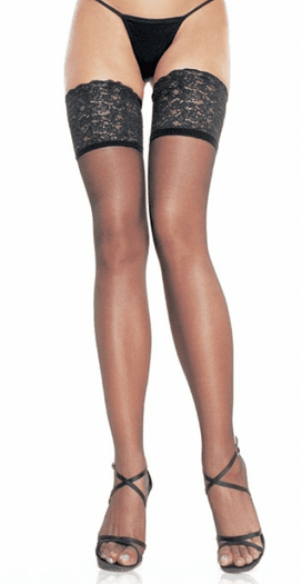 Plus Size Spandex Sheer Thigh Highs