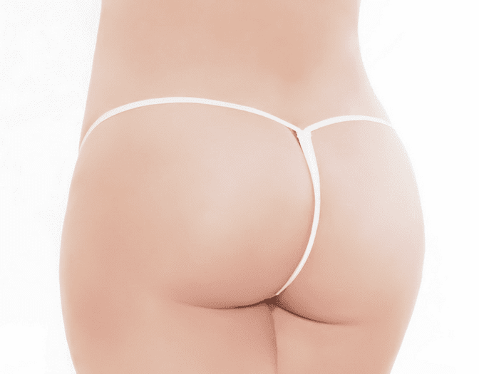 Plus Size Stretch Lace G-String Thong