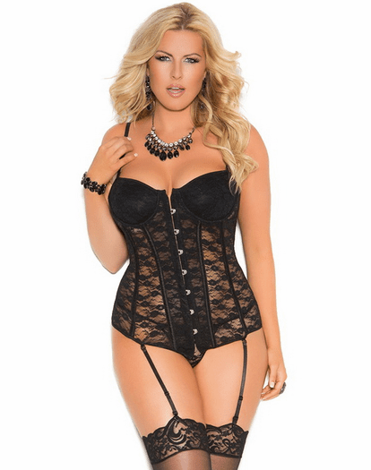 Plus Size Surprisingly Sweet Sexy Bustier