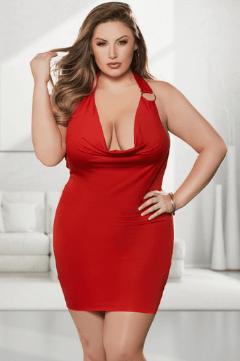 Plus Size Taking The Spotlight Mini Dress